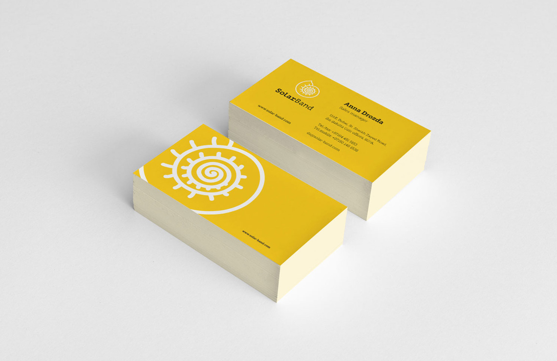Solarband визитки