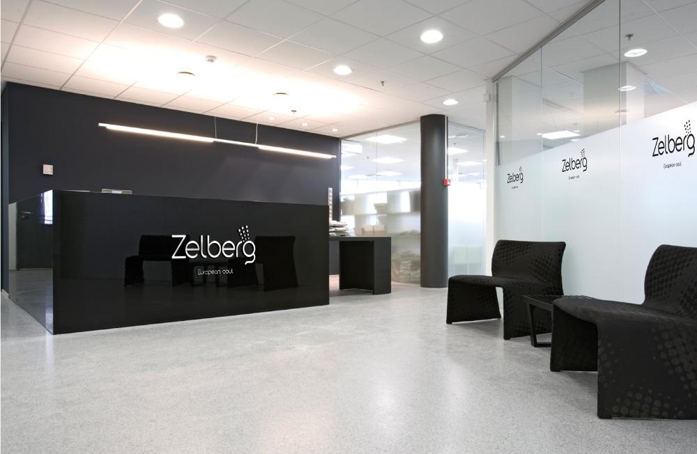 Zelberg оформление офиса, брендирование офиса