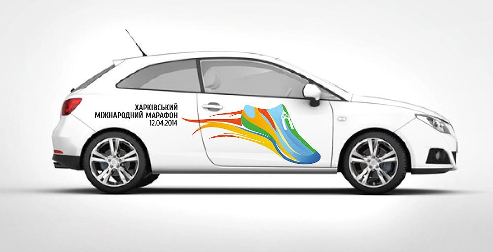 Пример полноцветного брендирования транспорта