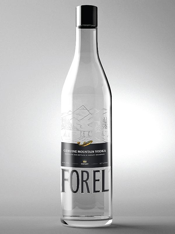 Этикетка водки ТМ FOREL